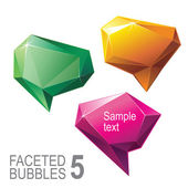 Faceted crystal bubble set — Stock Vector
