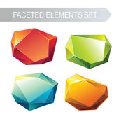 Crystallized gem stone — Stock Vector