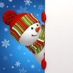 Snowman banner. — Stock Photo #14337507