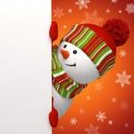 Snowman banner. — Stock Photo #14337513