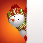 Bandeira de boneco de neve — Foto Stock
