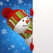 Sneeuwpop banner. — Stockfoto