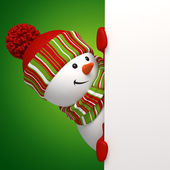 Snowman banner. Christmas greeting — Stock Photo