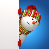Snowman banner. Christmas greeting — Photo