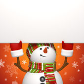Banner de muñeco de nieve. — Foto de Stock