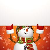 Snowman banner. — Stock Photo