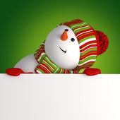 Snowman banner. Christmas greeting — Foto Stock