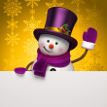 Snowman banner — Stock Photo #14457027