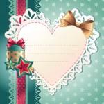 Christmas heart banner — Stock Vector
