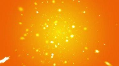 Spinning stjärnor i firandet bakgrund — Stockvideo