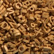 Wooden letters background — Stock Photo #15797289