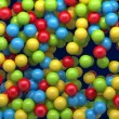 Stock Video: Falling colored balls intro background