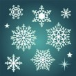 Snowflake collection set — Vector de stock
