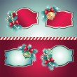 Vintage Christmas banner set — Stock Vector