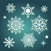 Snowflake collection set — Stock Vector