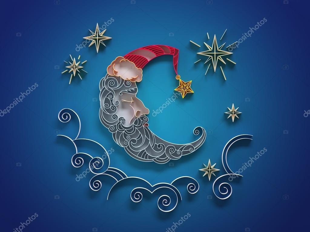 #1D87AE Papier Quilling śpiącego Księżyca Ozdoba — Zdjęcie  6013 decoration de noel quilling 1024x768 px @ aertt.com