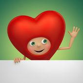 Happy Valentine Day heart — Stock Photo