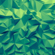 Abstract trendy emerald green faceted background — Stock Photo