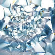 Abstract trendy clear brilliant crystal background — Stock Photo