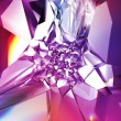 Abstract beautiful purple crystal fashion background — Stock Photo