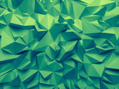 Abstract trendy emerald green faceted background — 图库照片