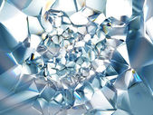 Abstract trendy clear brilliant crystal background — Foto de Stock
