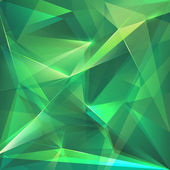 Abstract trendy emerald green crystal background — Stock Photo