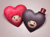 Valentine hearts couple — Stock Photo