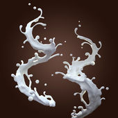 Milk splashing — Stock Photo
