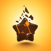абстрактные 3d конфеты звезда изолированные — Стоковое фото