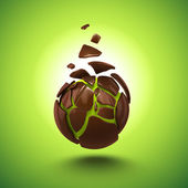 Abstract 3d chocolate ball candy isolated object — Foto Stock