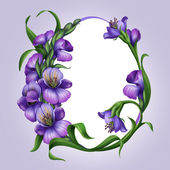 Lilac spring flowers frame template — Stock Photo