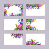 Floral card template set — Stock Photo