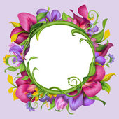Frame with exotic flower — Stock Photo