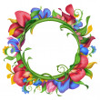Foto Stock: Flower frame