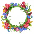 Stock Photo: Flower frame