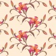 Tropical flower pattern background — Foto Stock