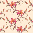 Tropical flower pattern background — Stock Photo