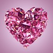 Broken pink crystal heart — Stock Photo