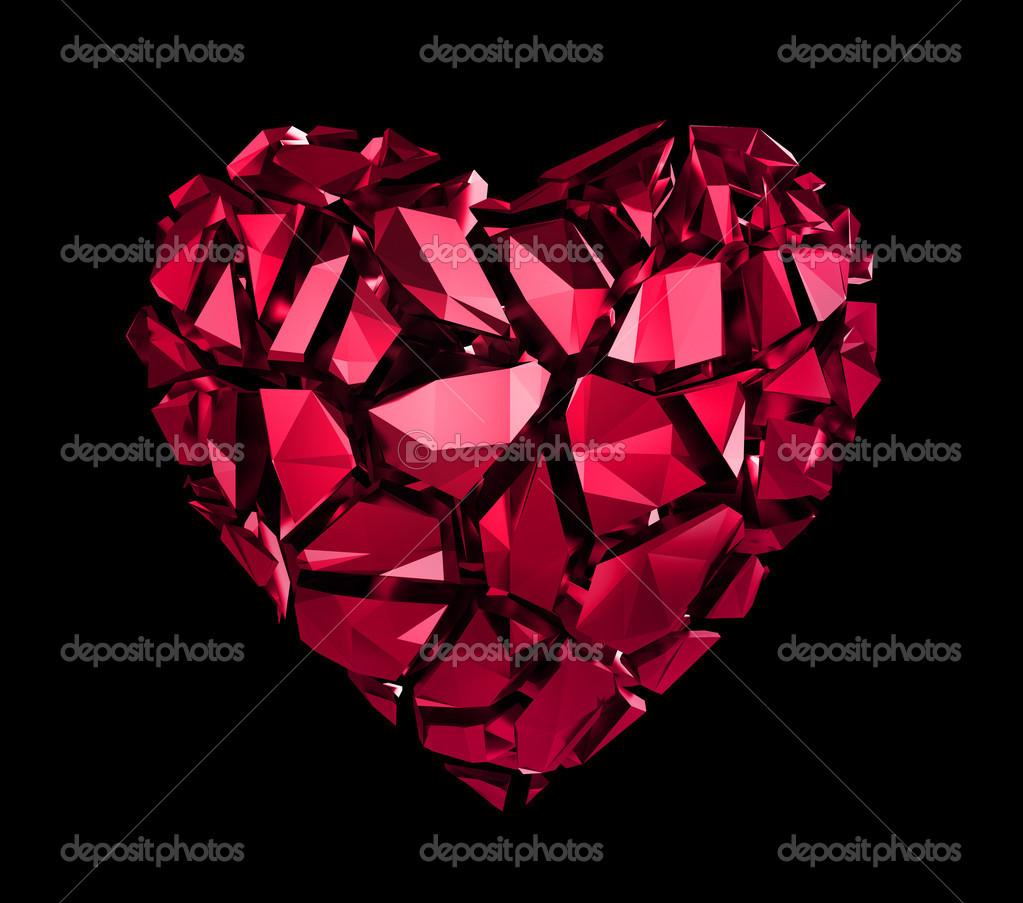 Broken Crystal Heart Wallpaper