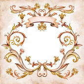 Vintage aged floral pattern — Stock Photo