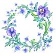 Floral watercolor wreath — Stock Photo #29708391