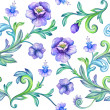Floral pattern with violet flowers — Stock Photo #29708407