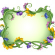 Stock Photo: Exotic rectangle spring flower frame.