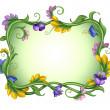 Exotic rectangle spring flower frame. — Stock Photo