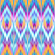 Stock Photo: Multicolor intricate ikat ethnic seamless pattern