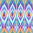 Multicolor intricate ikat ethnic seamless pattern — Stock Photo #29957347