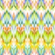 Multicolor intricate ikat ethnic seamless pattern — Stock Photo #29957377