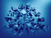 3d abstract sapphire blue crystal background — Stock Photo
