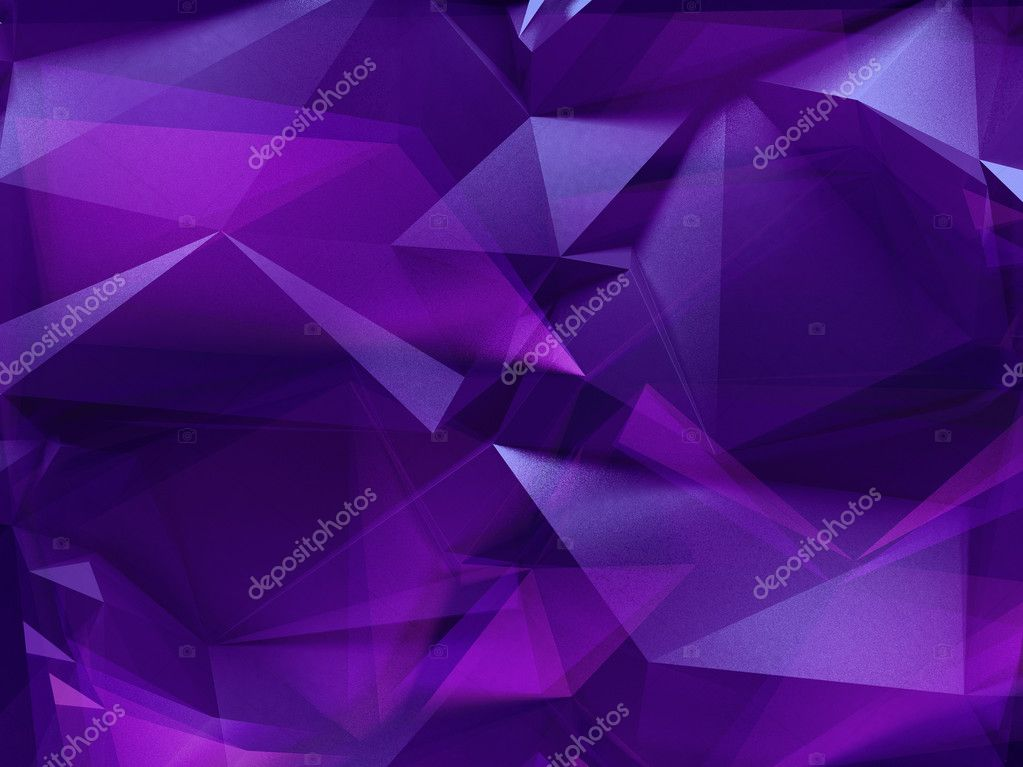 3d Abstract Violet Purple Crystal Background Stock Photo